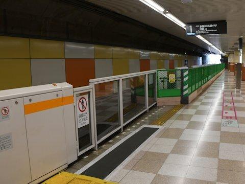 大岡山駅 目黒線8両化に伴うホームドア設置開始の画像