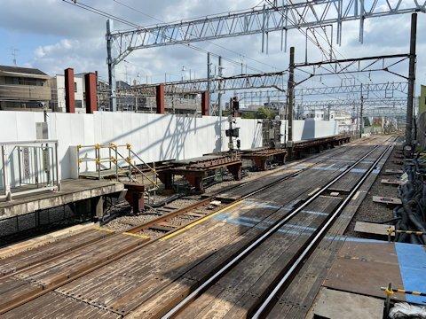 奥沢駅改良工事 2020年8月編の画像