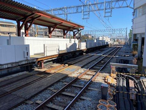 奥沢駅改良工事 2020年11月編の画像