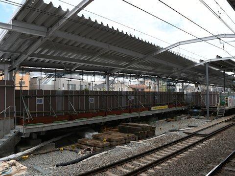 奥沢駅改良工事 2021年6月編の画像