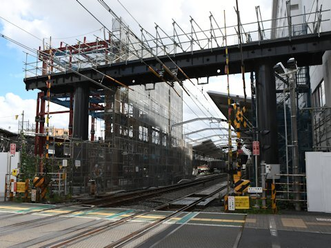 奥沢駅改良工事 2021年8月編の画像