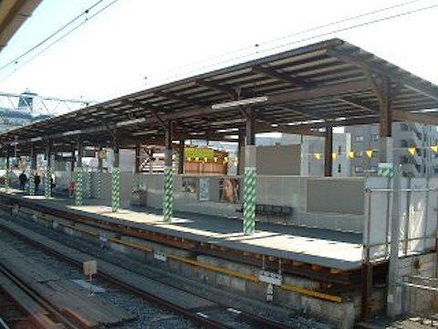 旗の台駅改良工事 2004年1月編の画像