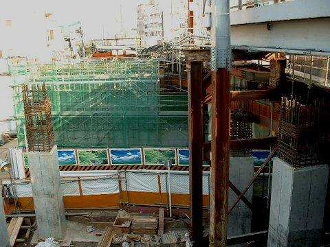 旗の台駅改良工事 2004年10月編の画像