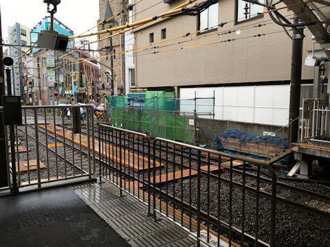 大井町線ホーム延伸工事 2017年4月自由が丘編の画像
