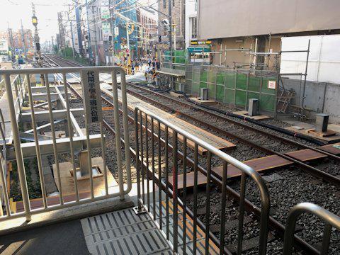 大井町線ホーム延伸工事 2017年5月自由が丘編の画像