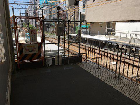 大井町線ホーム延伸工事 2017年7月自由が丘編の画像