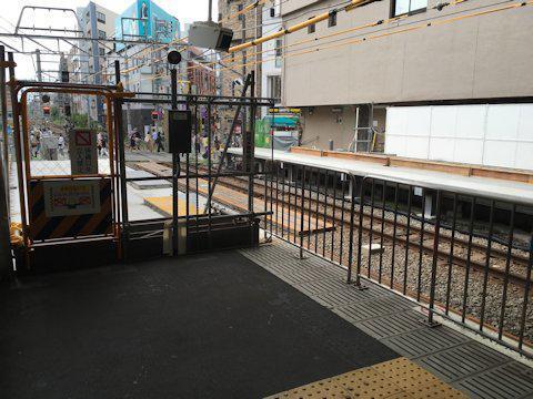 大井町線ホーム延伸工事 2017年8月自由が丘編の画像