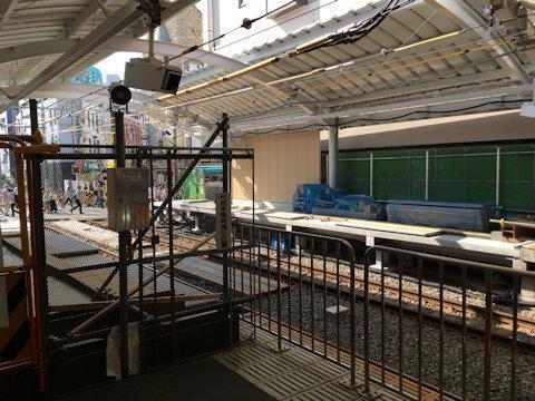 大井町線ホーム延伸工事 2017年10月自由が丘編の画像