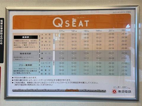 Q SEATの乗車可能駅変更に伴う掲示物修正の画像